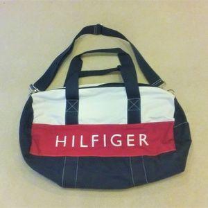 Tommy Hilfiger Logo Adjustable Strap Duffel Bag